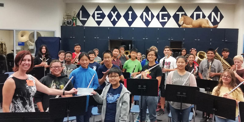 $4,536 was raised by Lexington Junior High School Band