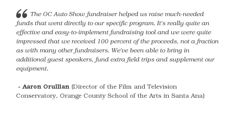 $3,612 was raised by Orange County School of the Arts, Film & Television
